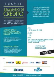 Convite seminario financiamento BNDS SURUBIM