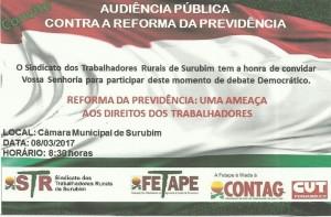 SINDICATO - TRABALHADORES  RURAIS DE SURUBIM
