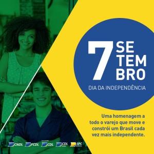 07 de setembro - dia da independencia do brasil - homenagem - cdl surubim