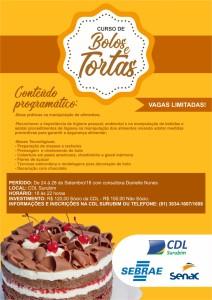 CURSO DE BOLO E TORTAS - CDL SURUBIM