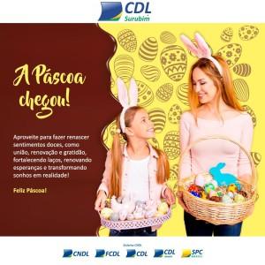 CDL Surubim deseja a todos (a) uma Feliz Páscoa!