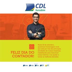 DIA DO CONTADOR - 22-09-2020 - HOMENAGEM CDL SURUBIM redes sociais
